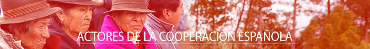 Actores de la Cooperación Española